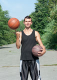 Young basketball player with ball Royalty Free Stock Image