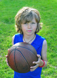 Young basketball player with a ball Royalty Free Stock Photo
