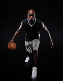 Young basketball player posing at camera Royalty Free Stock Photography