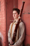 Young Bassoon Musician Stock Images
