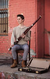Young Bassoon Musician Stock Photography