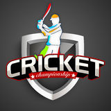 Young batsman for Cricket Championship. Royalty Free Stock Photography