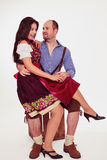 Young Bavarian couple Stock Image