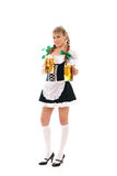 A young Bavarian girl posing in traditional clothes Royalty Free Stock Image