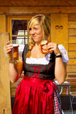 Young, bavarian woman Stock Photography