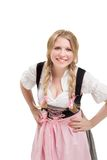 Young Bavarian woman in dirndl. Stock Photos