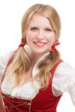 Young Bavarian woman in dirndl. Stock Photo