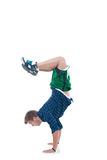 Young bboy standing on hands Stock Photography