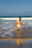 Young on beach Royalty Free Stock Photography