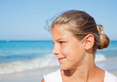 Young beach girl Stock Photography