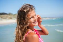 Young beach girl Stock Photos