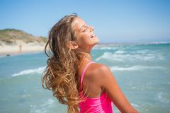 Young beach girl Royalty Free Stock Images