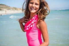 Young beach girl Stock Photo
