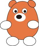 Young bear. Illustration, isolated, cartoon, a toy, the fantastic character Stock Photography