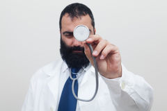 Young beard male doctor Royalty Free Stock Image