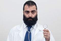 Young beard male doctor Royalty Free Stock Photography
