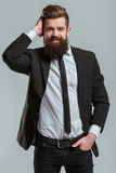 Young bearded businessman Stock Photos