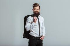 Young bearded businessman Stock Photos