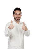 Young bearded businessman saying Ok Stock Photography