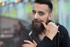 Young bearded man Royalty Free Stock Image