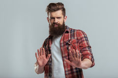 Young bearded man Royalty Free Stock Photos