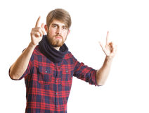 Young bearded man stock images
