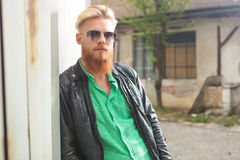 Young bearded man looking at you Royalty Free Stock Image