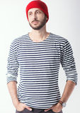 Young bearded man portrait Royalty Free Stock Photo