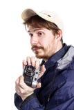 Young bearded photographer Stock Photos