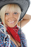 Young beauti cowgirl. Royalty Free Stock Photos