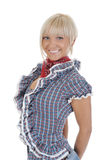 Young beauti cowgirl. Royalty Free Stock Photo