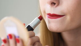 Young beautician apply professional cosmetics for making perfect look stock video