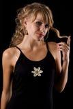 Young beautidul woman studio portrait Stock Images