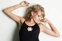 Young beautidul woman studio portrait Stock Photo
