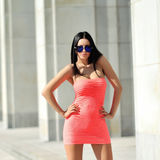 Young beautiful adult girl wearing elegant dress Stock Image