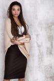Young beautiful african american girl posing. stock photos