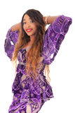 Young beautiful African fashion model Royalty Free Stock Images