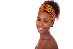 Young beautiful african woman, Isolated over white background Stock Image