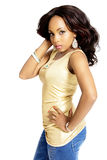 Young Beautiful African Woman, Studio Shot Royalty Free Stock Image