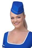 Young beautiful air hostess Stock Photo