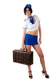 Young beautiful air hostess Stock Image