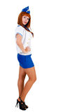 Young beautiful air hostess Royalty Free Stock Images