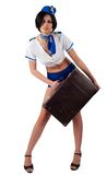 Young beautiful air hostess Stock Photography
