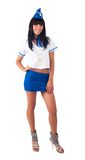 Young beautiful air hostess Stock Photos