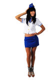 Young beautiful air hostess Royalty Free Stock Photo