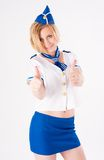 Young beautiful air hostess Royalty Free Stock Photos