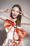 Young beautiful asian brunette Stock Photos