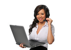 Young beautiful asian customer service representat Royalty Free Stock Image