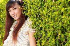 Young beautiful asian girl smiling Stock Photography