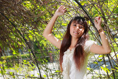 Young beautiful asian girl smiling Royalty Free Stock Photography